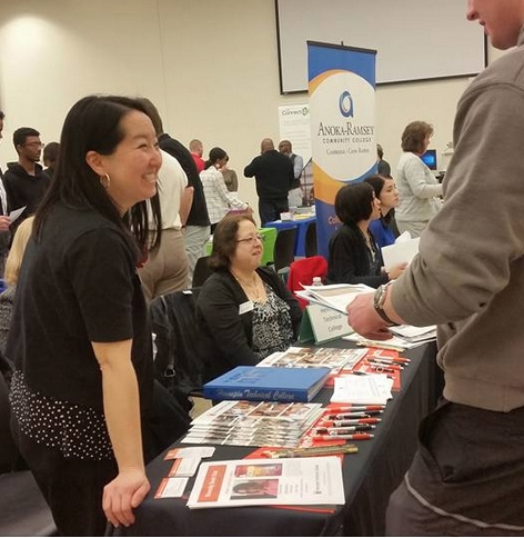 nw business and employment opportunity fair jean maierhofer hosting the htc table 22117