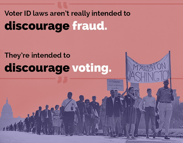 voter id laws discourage voting
